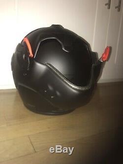 Roof Boxer V8 Full Face Matt Black Motorbike Helmet Size S/M