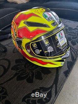 Rossi Pista Agv Large 60 Gp R #46 Valentino 20th Anniversary Sun & Moon Helmet