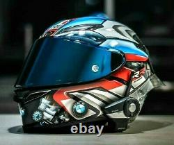 Rossi Vr 46 Bmw S1000rr Tricolore Pista Gpr Race Motorcycle Full Face Helmet New