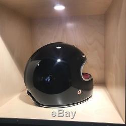 Ruby Castel St. Germain Black Full Faced Motorcycle Helmet Large L