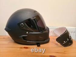 Ruroc Atlas 1 Helmet Large Black on Black with EXTRA visor Clear