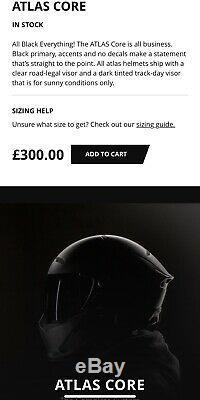 Ruroc Atlas Core Carbon Fibre Motorbike Helmet