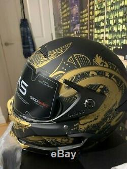Ruroc Atlas Motorbike Carbon Helmet (Ronin) Design NEW