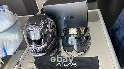 Ruroc Atlas Ronin Platinum XL With Shockwave Bluetooth + Clear + Gold Visors