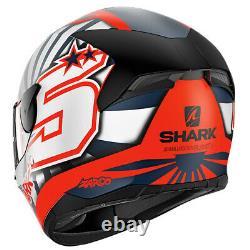 SHARK D-SKWAL 2 ZARCO MAT OWB Latest Replica Motorcycle Full Face HELMET ZE