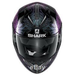 SHARK RIDILL 1.2 Nelum KXK Purple Ladies/Women Full Face Motorcycle Helmet ZE