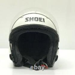 SHOEI J-STREAM White Motorcycle Open Face Helmet Size L 59cm Japan HS
