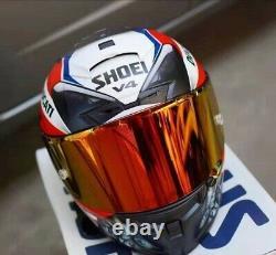 SHOEI Motorcycle Full Face Visor DOT Motocross X14 V4 Carbon fiber Racing Helmet