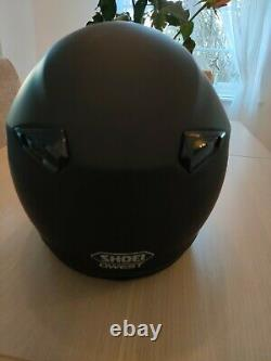 SHOEI QWEST BLACK FULL FACE MOTORCYCLE MOTORBIKE HELMET Medium. GREAT CONDITION