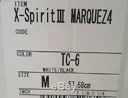SHOEI X-SPIRIT 3 MARQUEZ 4 White/ Black size M. Please read description