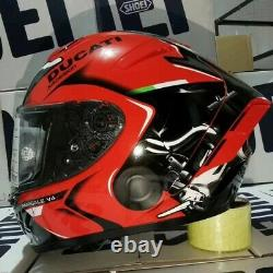 SHOEI X14 V4 DUCATI Full Face Motorcycle Motocross Racing Riding Red New Helmet