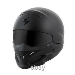Scorpion Covert 3-IN-1 Motorcycle Street Helmet Matte Black Medium