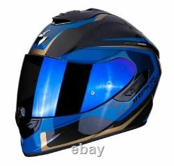 Scorpion EXO 1400 Carbon Esprit Gloss Blue and Black Full Face Motorcycle Helmet