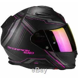 Scorpion EXO 510 Air Sync Matt Black Pink Ladies Full Face Motorcycle Helmet