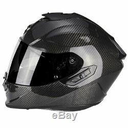 Scorpion Exo-1400 Air Carbon Full Face Motorcycle Motorbike Helmet Black