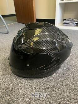 Scorpion Exo-1400 Air Carbon Full Face Motorcycle Motorbike Helmet Medium 57/58