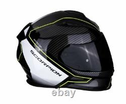 Scorpion Exo 510 Frame Full Face Motorcycle Helmet Black Yellow White XL