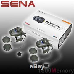 Sena SMH5 Dual Full Face Helmet FM Radio Motorcycle Bluetooth Headset Intercom