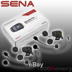 Sena SMH5 Dual Full Open Face Helmet FM Motorcycle Bluetooth Headset Intercom