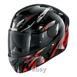 Shark D Skwal 2 Kanhji Motorcycle Full Face Helmet KRW Black / Red / White