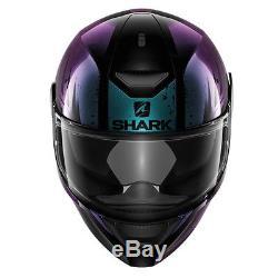 Shark Dark D-Skwal Full Face DVS Motorbike Motorcycle Helmet Dharkov KVX