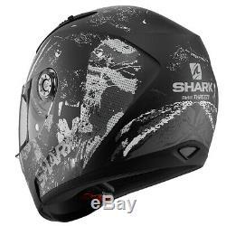 Shark Ridill Threezy Motorcycle Motorbike Full Face Helmet Black