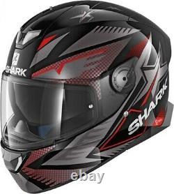 Shark Skwal 2 Draghal LED Lights Motorcycle Full Face Helmet Black / Red
