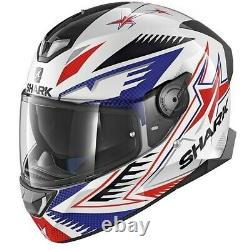 Shark Skwal 2 Draghal LED Lights Motorcycle Full Face Helmet White / Blue / Red