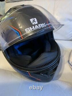 Shark Spartan Carbon Guintoli Blue Motorcycle Helmet (Large) Unboxed