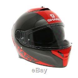Shark Spartan Carbon Skin DRR Black / Red Motorcycle Helmet Free Pinlock