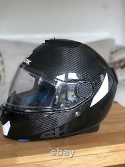 Shark Spartan Carbon skin Black Motorbike Full Face Helmet + Pinlock Size M