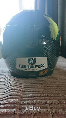 Shark Spartan carbon motorcycle crash helmet size small