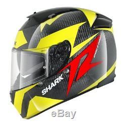 Shark Speed R S2 Carbon Run Kyr Yellow Full Face Motorcycle Helmet Size M
