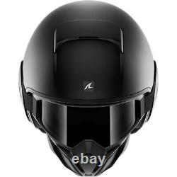 Shark Street Drak Blank Matt Black Motorcycle Motorbike Bike Urban Helmet