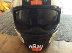 Shoei Gt Air Dauntless Helmet Size Large White & Orange