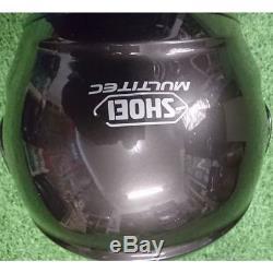 Shoei Multitec Grey Motorbike Motorcycle Helmet ONLY WORN 3 TIMES LIKE BRAND NEW