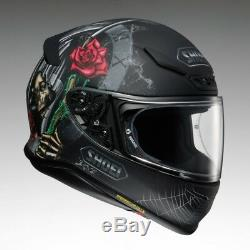 Shoei NXR BRIGAND / Dystopia TC 5 Skull, web and rose motorcycle Helmet