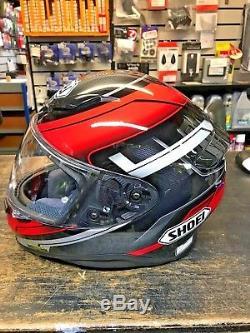 Shoei NXR Mystify TC-1 Full Face Motorcycle / Motorbike Helmet Size Large