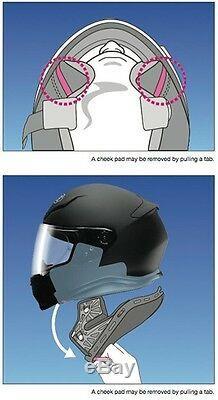 Shoei NXR RUTS TC-5 Matt Black Full Face Motorcycle Helmet Size L ONLY