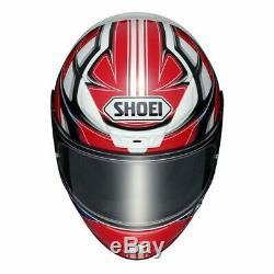 Shoei NXR Rumpus Red Blue White TC1 Full Face Motorcycle Helmet Sale RRP £469.99
