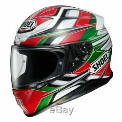 Shoei NXR Rumpus Red White Green TC4 Full Face Motorcycle Helmet RRP £469.99