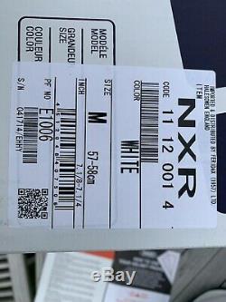 Shoei NXR helmet, White M medium, with extra visor