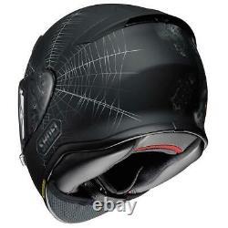 Shoei Nxr Dystopia Black Motorcycle Motorbike Bike Helmet With Pinlock