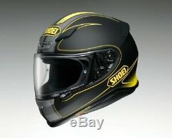 Shoei Nxr Flagger Tc-3 Black Yellow Full Face Motorcycle Helmet