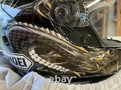 Shoei RF 1000 helmet Strife Black and Gold Dragon XL