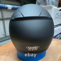 Shoei Ryd Matt Black Motorcycle Helmet X-large Ex Display