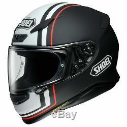 Shoei X-Large RF-1200 Recounter Matte Black/White Full Face Motorcycle Helmet