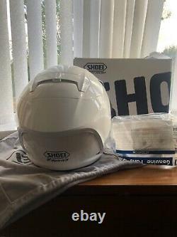 Shoei X Spirit 2 Gloss White Full Face Motorcycle Helmet Size M 57-58cm