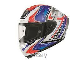 Shoei X Spirit 3 Assail TC2 White Red Blue Full Face Motorcycle Helmet XS