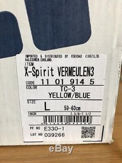 Shoei X-Spirit Crash Helmet Size Large 59/60 Vermeulen Replica Iridium Visor